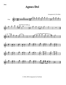 Agnus Dei: Instrument parts by Unknown (works before 1850)