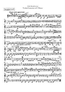 Concerto for Violin and Orchestra in E Minor, Op.64: Trumpets part by Felix Mendelssohn-Bartholdy