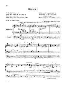 Sonatas for Organ, Op.65: Sonata No.1 by Felix Mendelssohn-Bartholdy