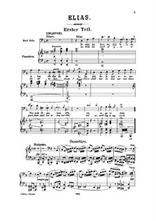 Elijah, Op.70: For soloists, choir and piano by Felix Mendelssohn-Bartholdy