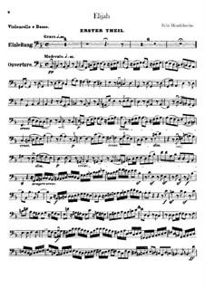 Elijah, Op.70: Cellos and double basses part by Felix Mendelssohn-Bartholdy