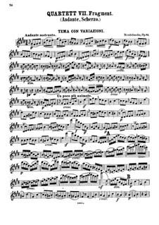 Four Pieces for String Quartet, Op.81: Violin I part by Felix Mendelssohn-Bartholdy
