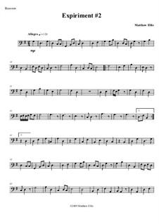 Expiriment No.2: Bassoon part by Matthew Ellis