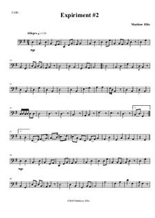 Expiriment No.2: Cello part by Matthew Ellis
