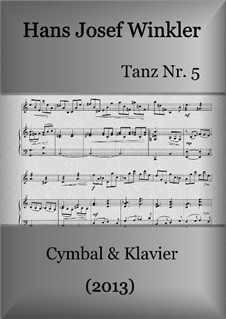 Dance No.5: For dulcimer and piano by Hans Josef Winkler