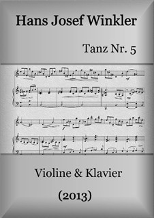 Dance No.5: For violin and piano by Hans Josef Winkler