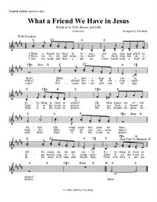 What a Friend We Have in Jesus: Guitar lead sheet by Charles Crozat Converse