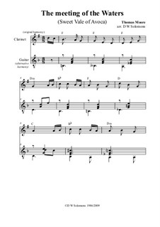 The meeting of the waters: For clarinet and guitar by Thomas Moore