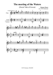 The meeting of the waters: For flute and guitar by Thomas Moore