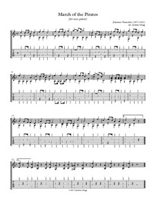 March of the Pirates, Op.65 No.5: For easy guitar by Johannes Palaschko