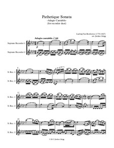 Movement II: Version for recorder duet by Ludwig van Beethoven