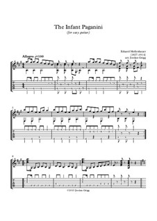 The Infant Paganini: For easy guitar by Edward Mollenhauer