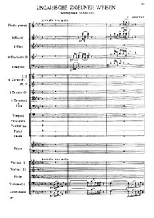 Hungarian Gypsy Melodies, TH 193: Full score by Sophie Menter
