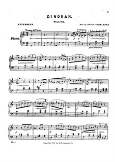 Dinorah (The Pardon of Ploërmel): Waltz, for Piano by Giacomo Meyerbeer