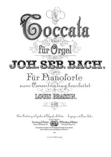 Toccata and Fugue in D Minor, BWV 565: For piano by Johann Sebastian Bach