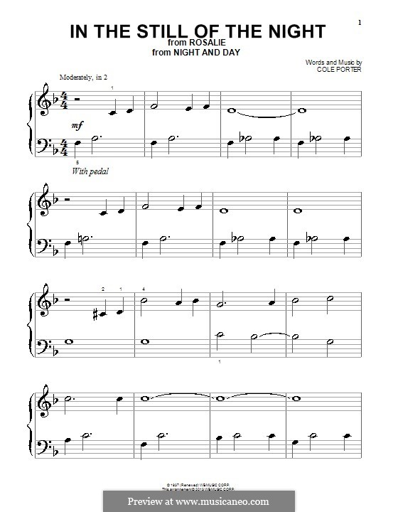 In the Still of the Night: For piano by Cole Porter