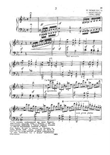 Cadenzas to Movements of Concerto No.3 for Piano by Beethoven: To movement II by Ignaz Moscheles