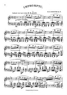 Impromptu in G Flat Major, Op.8: For piano by Wesley Octavius Forsyth