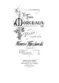 Three Pieces for Piano Four Hands, Op.11: No.1 Polonaise by Moritz Moszkowski