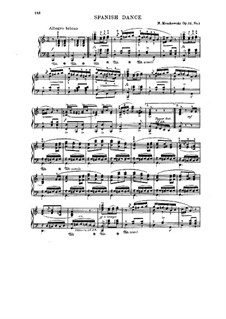 Five Spanish Dances, Op.12: Dance No.1, for piano by Moritz Moszkowski
