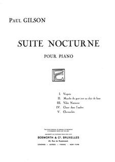 Suite Nocturne: Suite Nocturne by Paul Gilson