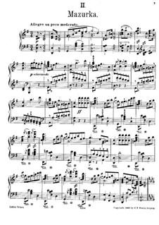 Four Polish Folk Dances, Op.55: No.2 Mazurka, for piano by Moritz Moszkowski