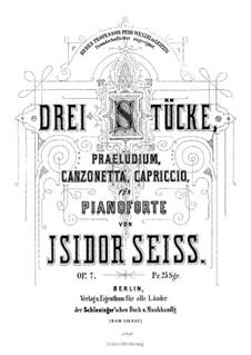 Drei Stücke, Op.7: Drei Stücke by Isidor Seiss