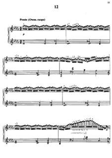 Fifteen Virtuosic Etudes, Op.72: Etude No.12 by Moritz Moszkowski