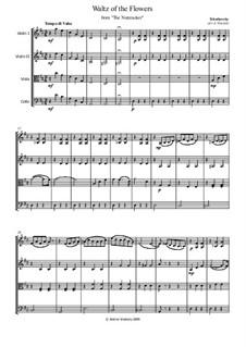 No.8 Waltz of the Flowers: For string quartet – parts by Pyotr Tchaikovsky
