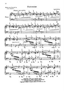 Dix pièces mignonnes (Ten Small Pieces), Op.77: No.8 Pantomime by Moritz Moszkowski