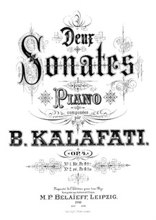 Two Sonatas for Piano, Op.4: Sonata No.1 in D Major by Vasily Kalafati