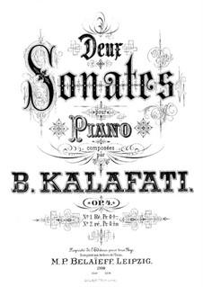 Two Sonatas for Piano, Op.4: Sonata No.2 in D Minor by Vasily Kalafati