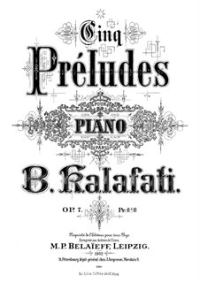 Five Preludes, Op.7: Complete set by Vasily Kalafati