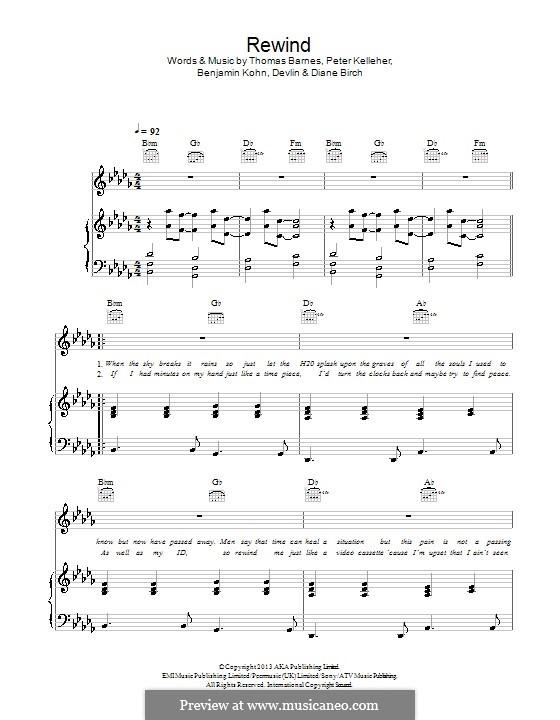 Rewind (Devlin): For voice and piano (or guitar) by Benjamin Kohn, Diane Birch, Peter Kelleher, Thomas Barnes, James Devlin