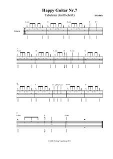 Happy Guitar: No.7 – tablature by S. Gelück
