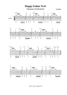 Happy Guitar: No.8 – tablature by S. Gelück