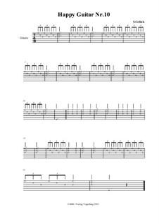 Happy Guitar: No.10 – tablature by S. Gelück