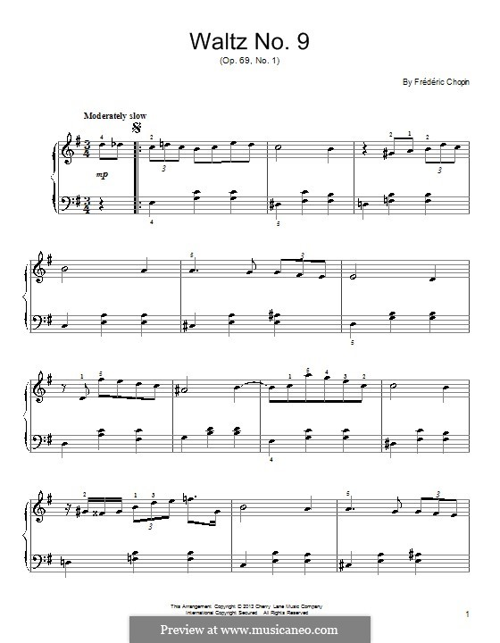 Waltzes, Op. posth.69: No.1 in A Flat Major by Frédéric Chopin