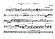 3 Little pieces for Oboe: Piece No.2, book I, MVWV 569 by Maurice Verheul
