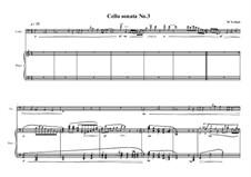 Cello sonata No.3, MVWV 731: Cello sonata No.3 by Maurice Verheul