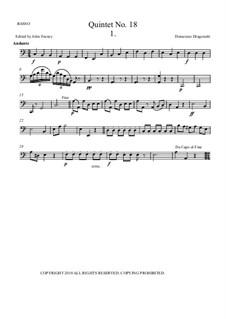 Quintet No.18 for Double Bass, Violin, Two Violas and Basso: Cello part by Domenico Dragonetti