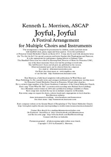 Joyful, Joyful: Joyful, Joyful by Ludwig van Beethoven, Ken Morrison, George Willis Cooke