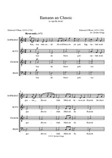 Eamann an Chnoic: For choir a cappella by Edmond O'Ryan