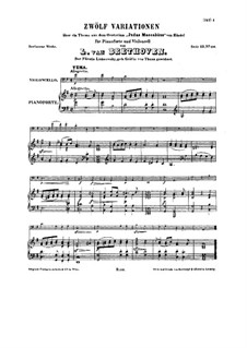 Marches for Cello and Piano, WoO 45: Score by Ludwig van Beethoven