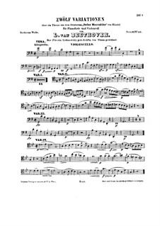 Marches for Cello and Piano, WoO 45: Solo part by Ludwig van Beethoven