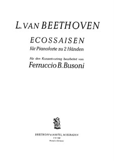 Écossaise in E Flat Major, WoO 83: For piano by Ludwig van Beethoven