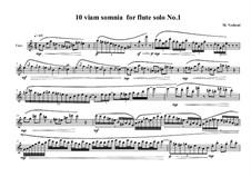 10 viam somnia for flute solo: No.1, MVWV 520 by Maurice Verheul