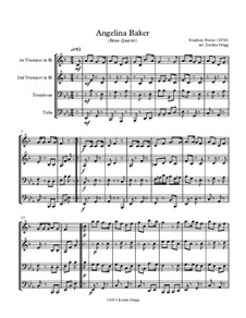Angelina Baker: For brass quartet by Stephen Collins Foster