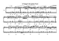 4 Tango's for piano: Tango No.4, MVWV 630 by Maurice Verheul