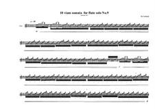 10 viam somnia for flute solo: No.9, MVWV 528 by Maurice Verheul